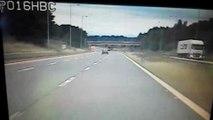 Drunk driver swerves on M6