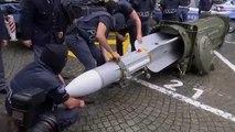 Um autêntico arsenal de guerra nas mãos da polícia italiana