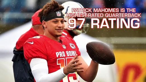 Patrick Mahomes Scores Higher Madden 20 Rating Than Tom Brady