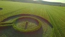 Fidget spinner crop circle
