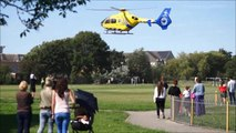 Two hurt as car ploughs into crowd