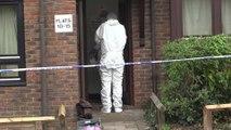 Forensic teams at murder investigation