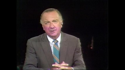 """Walter Cronkite kicks off CBS News report on Apollo 11, the """"most dangerous, but most thrilling"""" mission"""