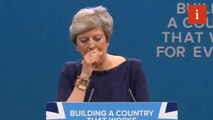 May can't stop coughing during speech