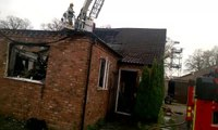 The scene of the fire at Abbey Joinery.