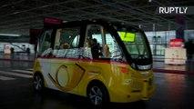 CeBIT Visitors Take a Ride on PostBus Self-Driving Shuttle
