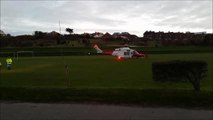 VIDEO: Air ambulance flies injured 'basejumper' to Brighton
