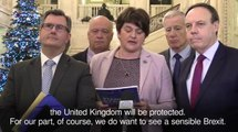The DUP will block any Brexit deal that separates Northern Ireland from the UK