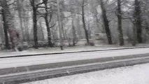 Heavy snow blankets Sheffield roads