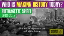 Juliet Stevenson talks about Amnesty International's Suffragette Spirit campaign