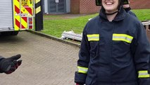 Female office staff become firefighters for International Women?s Day