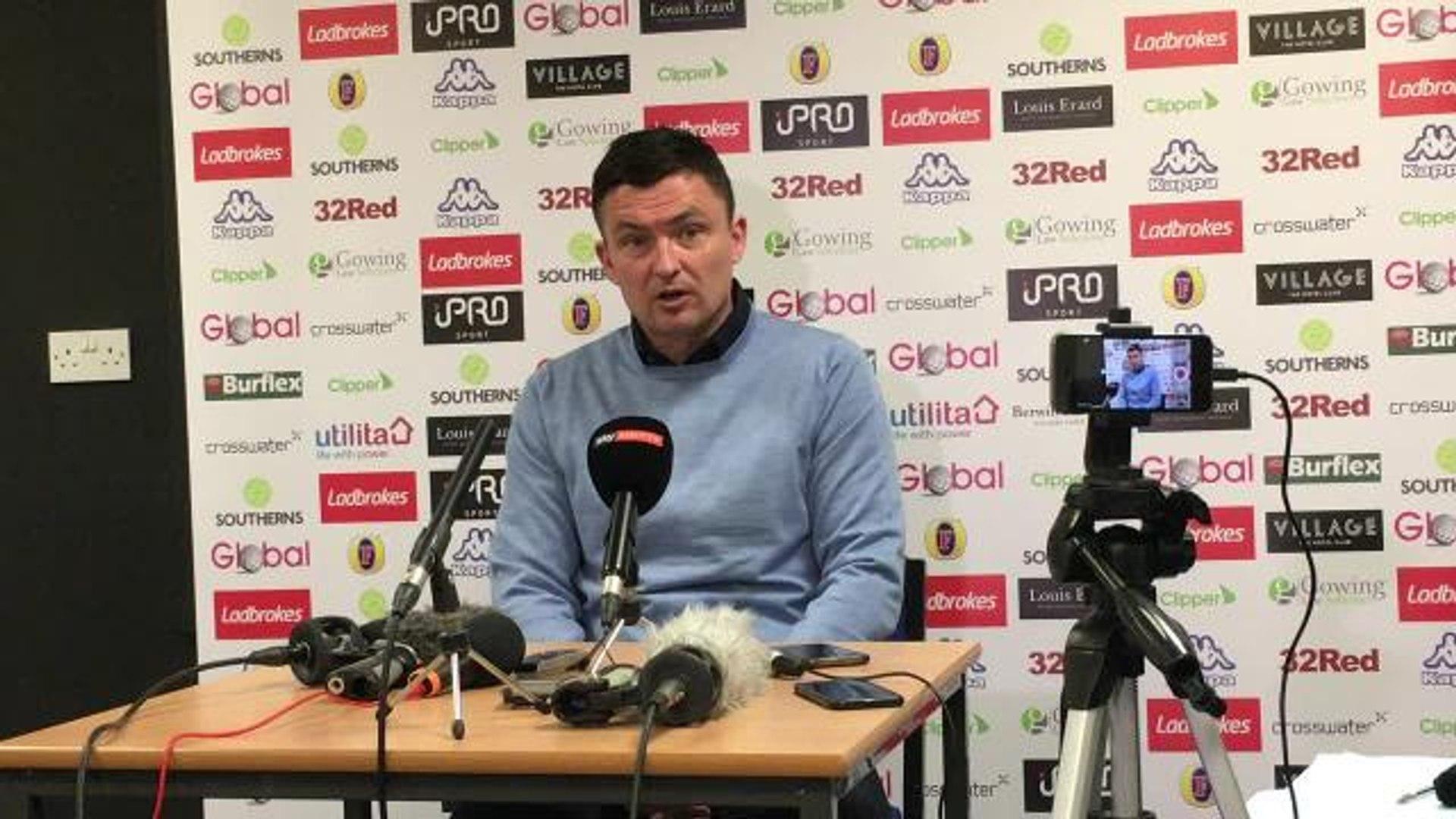 Paul Heckingbottom speaks to the media ahead of Sheffield Wednesday visit.