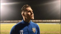 WATCH: Coleraine midfielder Josh Carson speaks after their 3-2 win over Carrick Rangers