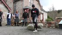 Hunter from Gladiator breaks world record in ancient Scots contest