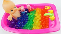 Learn Colors BabyDoll Peppa Pig BathTime ORBEEZ Surprise Toys kids videos for toddlers