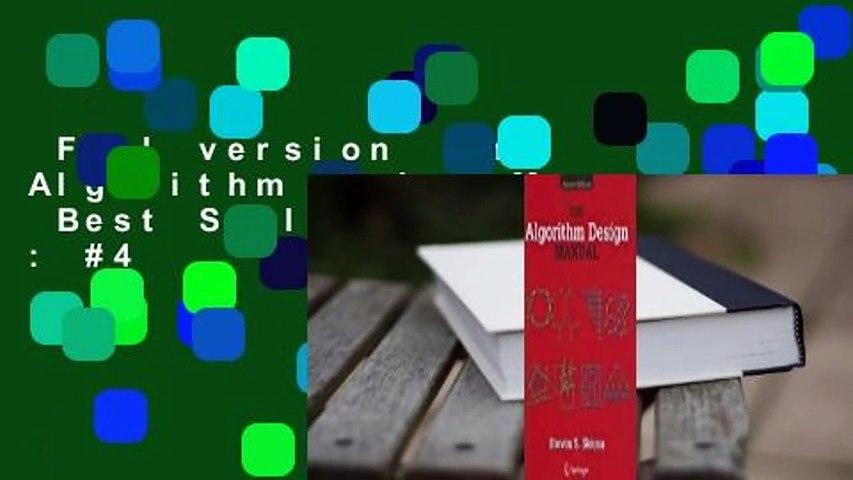Full version  The Algorithm Design Manual  Best Sellers Rank : #4
