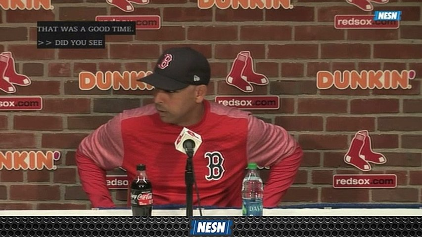 Alex Cora Reveals Red Sox