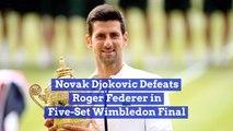 Novak Djokovic Takes The Wimbledon Final
