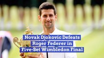 Novak Djokovic Takes The Wimbledon Final