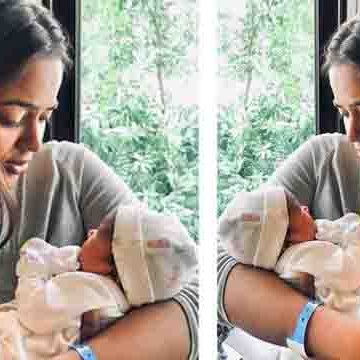 Sameera Reddy holds her daughter in her arms; photo goes viral | Boldsky