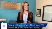 David Shelor Embrace Home Loans - Blacksburg, VA BlacksburgWonderful5 Star Review by Jacqueli...