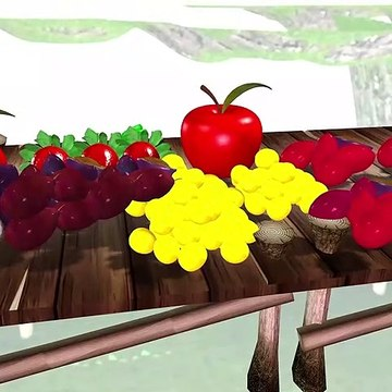 Learn Colors With Fruits And Cows For Childrens ## || green yellow pink orange maroon blue