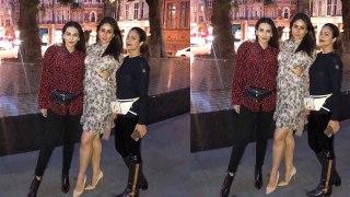 Karisma Kapoor enjoys night out with Kareena Kapoor Khan & Amrita Arora | FilmiBeat
