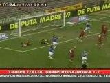 Samp 1-roma 1 coppa italia andata