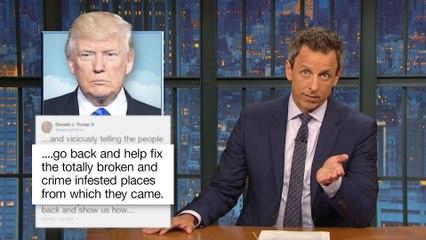 President TrumpAttacks Four Minority House Democrats on Twitter