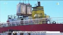 Port de Papeete : les goélettes font le plein