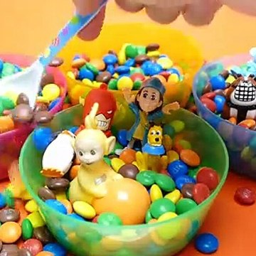 Hide & Seek Toys in M&M's Game - Teletubbies Pets and Masha