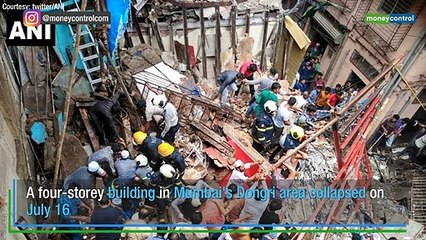 Four-storey building collapses in Mumbai's Dongri area, at least 40 feared trapped