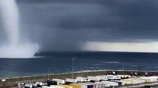 Un impressionnant  phénomène naturel se  produit au large de Bastia !