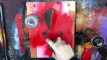 Deadpool by New York Street Artist. Spray Paint Art. Stencil Art