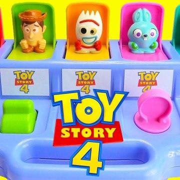 Toy Story 4 Pop Up Surprises Forky, Woody, Buzz Lightyear Learn Colors and Numbers