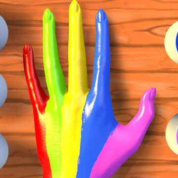 Learn Colors with Finger Family Songs - Best of Panda Bo Body Paint Videos for Kids