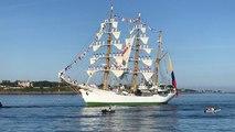 Le navire colombien A.R.C Gloria débarque à Saint-Malo pour 4 jours