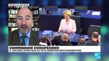 Face au vote incertain des eurodéputés, les promesses de von der Leyen à l'Europe