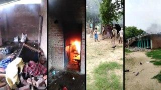 फतेहपुर: प्रतिबंधित मास मिलने पर मदरसे में तोड़फोड़, आगजनी, पुलिस फोर्स तैनात