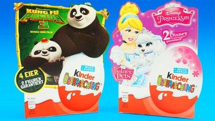 Kung Fu Panda 3 Toys in Kinder Surprise Eggs Disney Princess Palace Pets Kinder Surprise Eggs