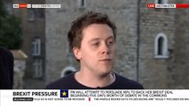 Owen Jones heckled by pro-Trump protester