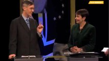 Caroline Lucas reminds Jacob Rees-Mogg about his backing for second referendum - correct