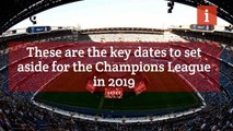 Champions League: dates to look out for