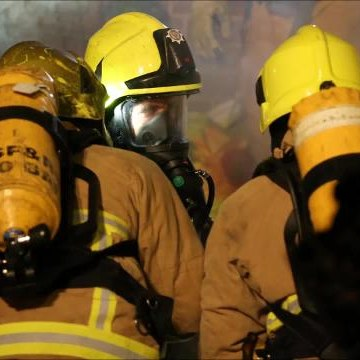 Pictures from the scene of the fire in Colebrook Road