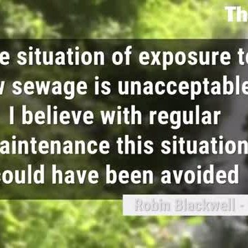 Sewage footage and explainer