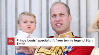 A Tennis Master Presents Prince Louis With A Gift