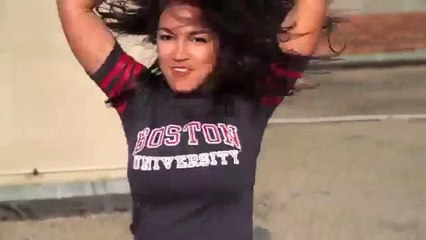 Alexandria Ocasio-Cortez dances in college video - USE THIS ONE