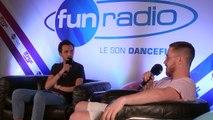 Aazar en interview dans le studio de Fun Radio à l'EMF 2019