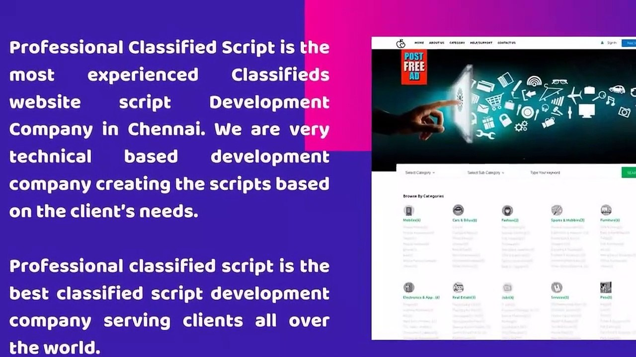 Classifieds website script - Classifieds Script - Classified software -  Classifieds Listing Software