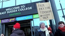 Strike action at East Sussex College in Hastings